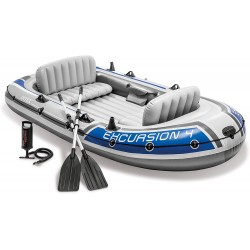 Bote inflable remos de aluminio y bomba Intex Excursion 4